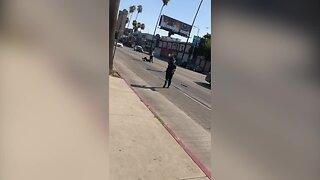 Machete-wielding man shot, killed by police in Hollywood