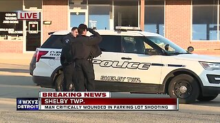 Shooting reported in Shelby Township parking lot