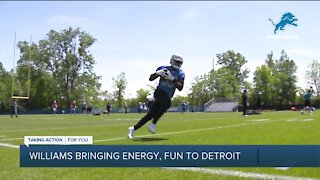 Jamaal Williams bringing fun and energy to Lions