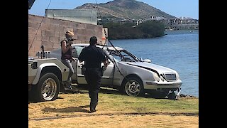 Woman dies after driving into Honolulu lagoon