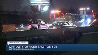Off-duty officer shot, injured on I-75 in Detroit