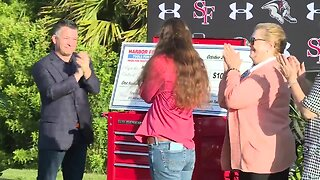 Martin County teacher surprised with $100,000