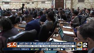Final hours: Last day of the Legislative session in Annapolis