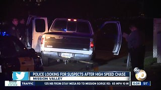 2 people sought after chase ends in Mission Valley