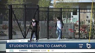 Grossmont Union HS District students returning to campus