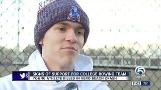 Friends mourn Holy Cross rower killed in Vero Beach crash