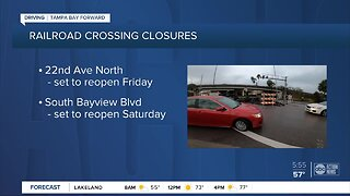 Two Pinellas County railroad tracks to close for emergency repairs