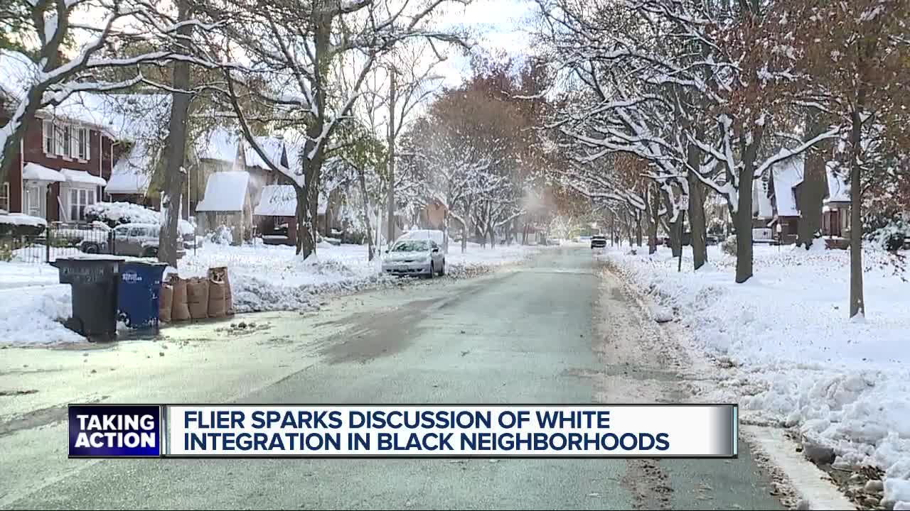Flyers about 'white integration' distributed in historic Detroit neighborhood stirs controversy