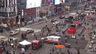 Increased Policing In Times Square Amid Search For Shooting Suspect