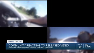 Community reacts to video of cops arresting teens