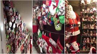 Tussete etter julenissen: mann har en samling på 4000 stykker