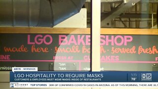 Restaurant group requiring masks for customers