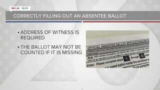 Correctly filling out an absentee ballot