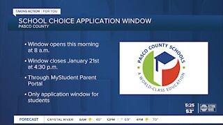 Pasco County school choice applications open Thursday