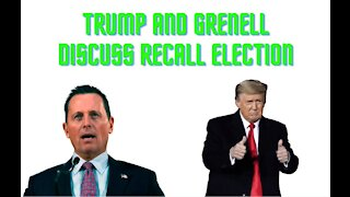 Trump and Grenell Discuss CA Recall Election