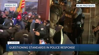 Questioning standards in police presence