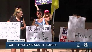 Rally held outside Palm Beach County Commission meeting to 'Reopen South Florida'