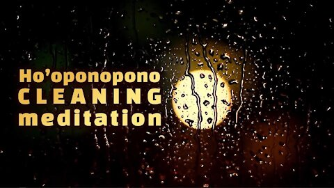 Ho'oponopono prayer of Hawaiian Morrnah Nalamaku Simeona Repeated - Binaural Beats & Rain Meditation