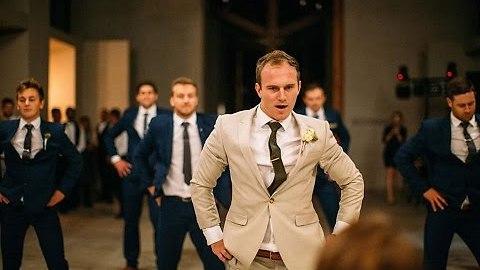 Groom Surprises Bride With Epic Groomsmen Dance