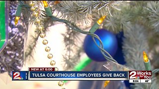 Tulsa County employees decorate Giving Tree