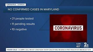 11 undergoing coronavirus testing in Maryland