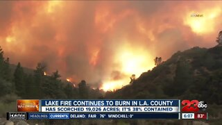 Lake Fire burns 19,026 acres, 38% contained