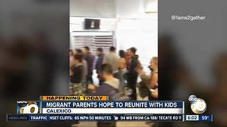 Migrants one step closer to being reunited with their kids