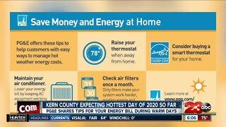 PG&E warm weather money and energy saving tips