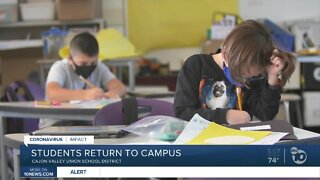 Students return to Cajon Valley Schools