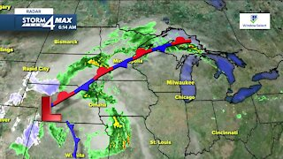 Chance of scattered showers return Wednesday