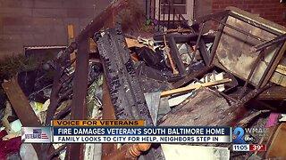 Fire Damages Veterans Home