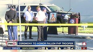Preparations underway for ceremony to honor fallen trooper