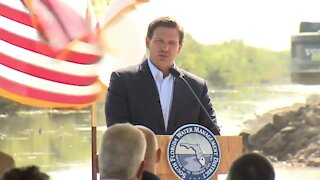 Florida Gov. Ron DeSantis speaks about Everglades Restoration Project