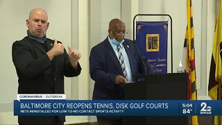 Baltimore City reopens tennis, disk, golf courts
