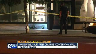 Scooter rider seriously injured after crash in Pacific Beach