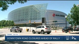 Downtown road closures ahead of rally