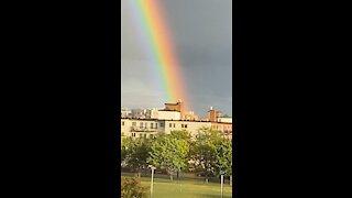 finally found the edge of the rainbow!!!!! 🌈