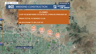Weekend traffic alerts: L-101 closures to know about