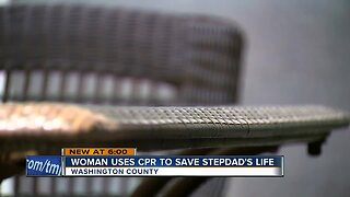 Washington County woman uses CPR to save stepdad's life
