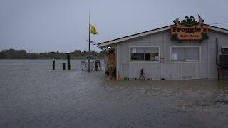 Tropical Storm Beta Makes Landfall In Texas