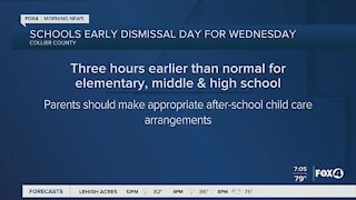 Early dismissal day for Wednesday