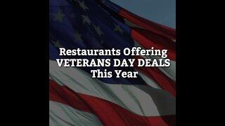 Restaurants Offering Veterans Day Deals This Year