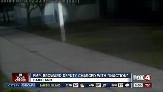 """Former Broward Deputy charged with """"inaction"""" in Parkland shooting"""
