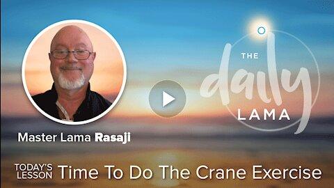 Time To Do The Crane Exercise