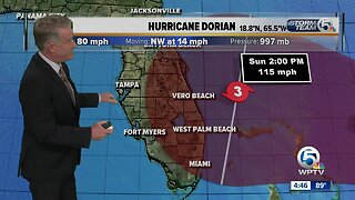 Hurricane Dorian update 8/28/19 - 5pm