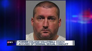 Former college volleyball coach accused of criminal sexual conduct