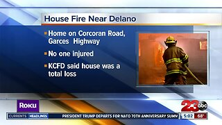 House fire near Delano displaces family