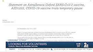 Looking for volunteers for vaccine trial