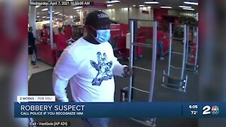 Tulsa police search for person of interest in robbery