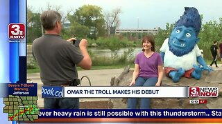 OMAR the troll finds a home under Bob Kerrey Pedestrian Bridge